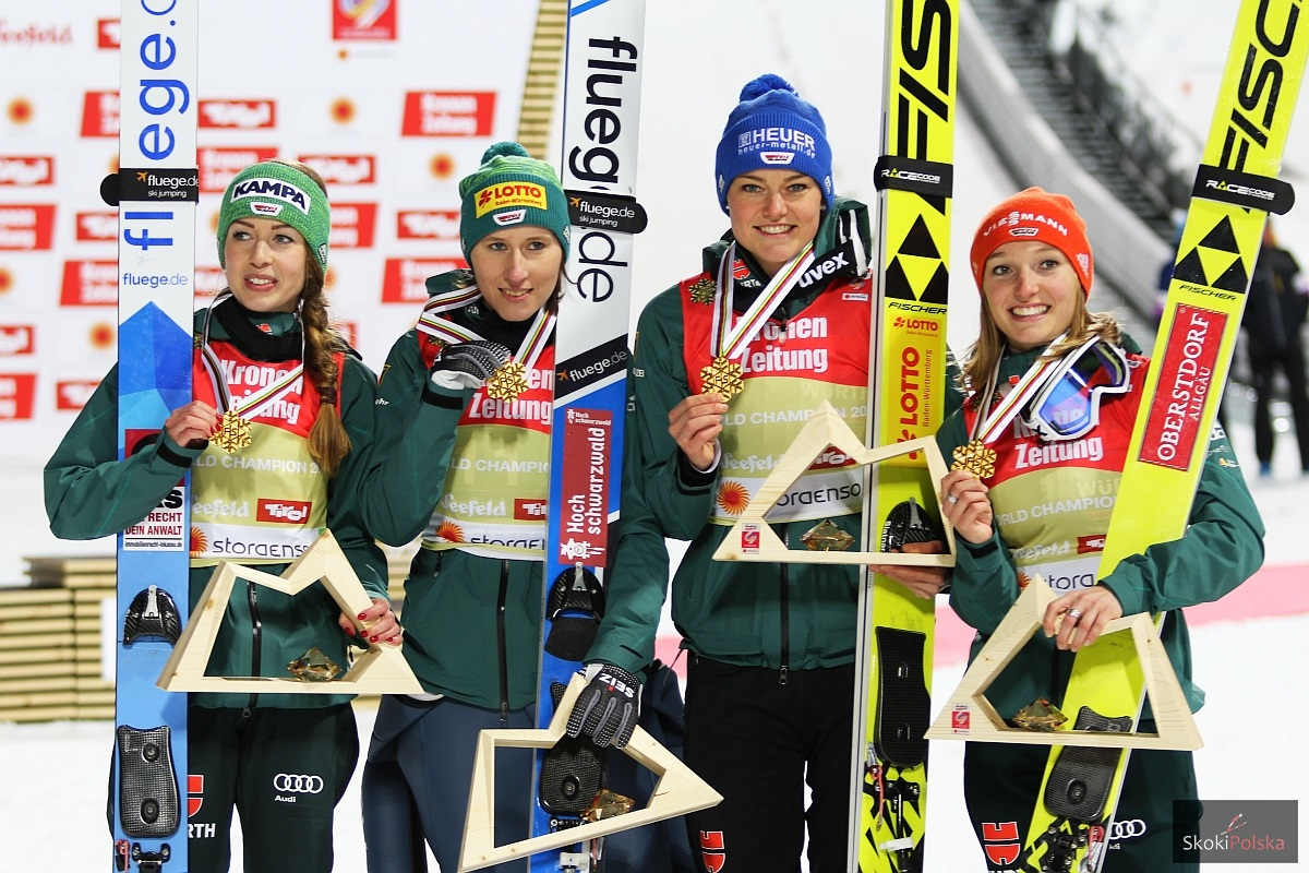 MŚ Seefeld: Niemki ze złotem po pojedynku z Austriaczkami i Norweżkami
