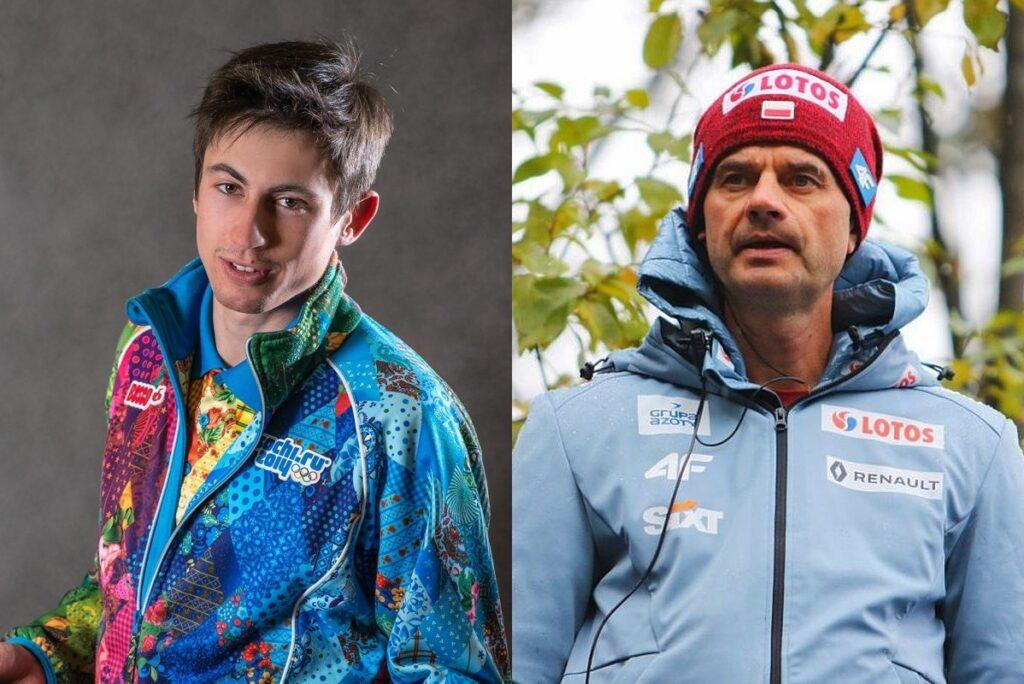 Jakub Kot i Stefan Horngacher (fot. Martyna Osuchowska / Behind the Sport / PZN)