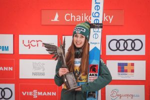 Juliane Seyfarth - triumfatorka Blue Bird (fot. FIS Ski Jumping Chaikovsky)