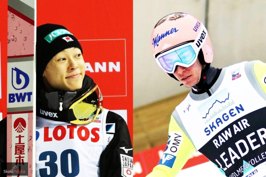 Ryoyu Kobayashi i Stefan Kraft (fot. SkokiPolska.pl)