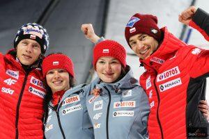 Polska drużyna (od lewej: D.Kubacki. K.Karpiel, K.Rajda, K.Stoch), fot. Julia Piątkowska