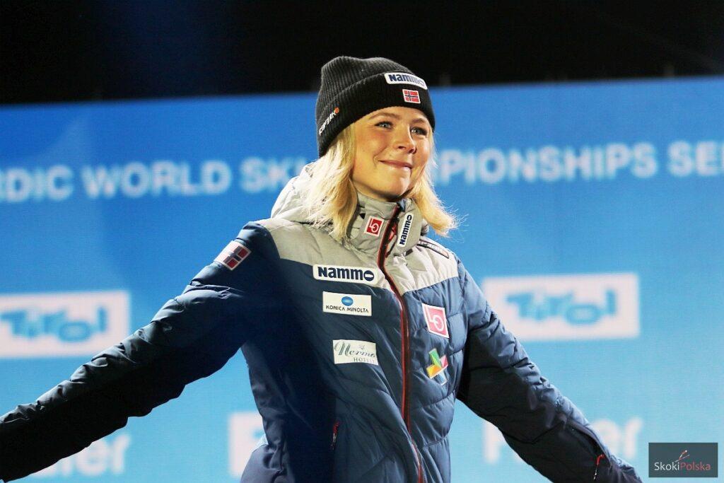 """Maren Lundby powróci na skocznię dopiero na śniegu. """"Nie chcę kusić losu"""""""