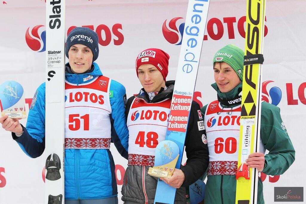 Podium konkursu (od lewej: B.Pavlovcic, S.Huber, F.Hoffmann), fot. Julia Piątkowska