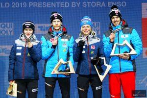 Brązowi medaliści - Norwegowie (od lewej: A.O.Stroem, R.Johansson, M.Lundby, A.Stjernen), fot. Julia Piątkowska