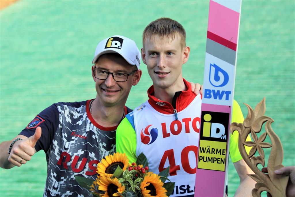 Trener Evgeniy Plekhov i Eveniy Klimov (fot. Julia Piątkowska)