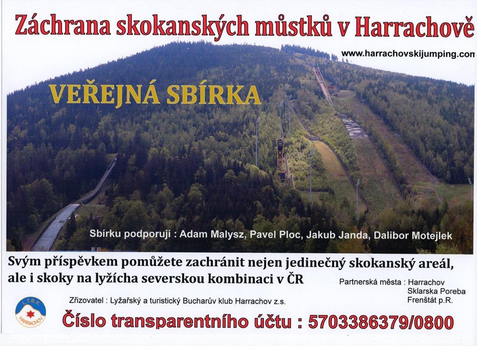 sbirka - Ratowanie skoków narciarskich w Harrachovie: trwa publiczna zbiórka pieniędzy na odbudowę skoczni