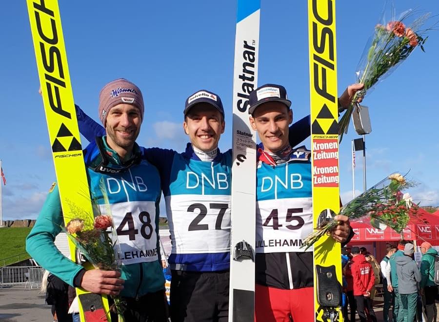 Od lewej: Pius Paschke, Simon Ammann, Clemens Leitner (fot. Bartłomiej Burda)