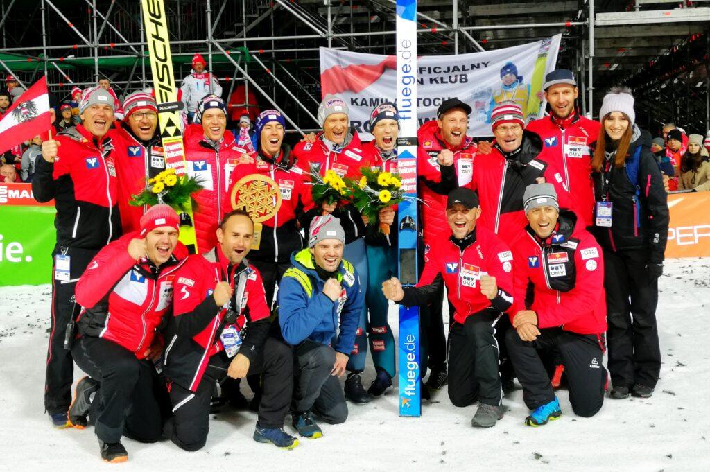 Austriacka drużyna triumfuje w Wiśle (fot. Julia Piątkowska)
