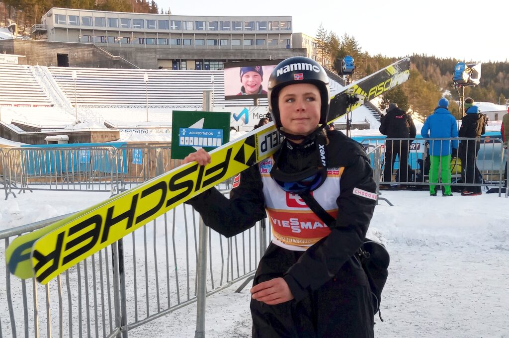 Maren Lundby w Lillehammer (fot. Martyna Ostrowska)