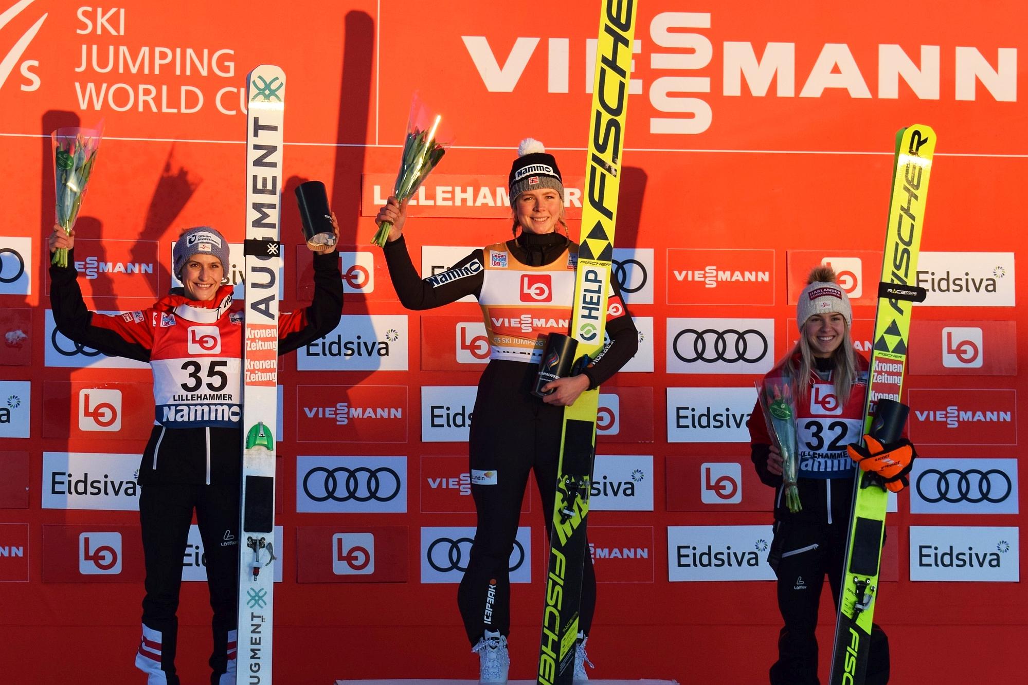 You are currently viewing PŚ Pań Lillehammer: Maren Lundby nokautuje rywalki na starcie sezonu!