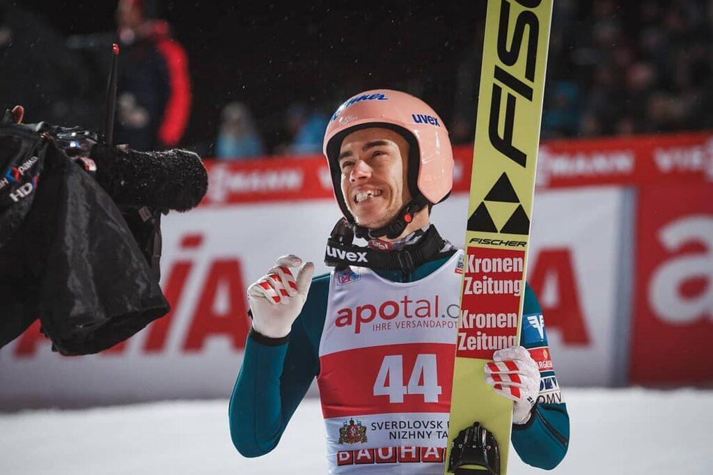"""Stefan Kraft po triumfie w Rosji: """"Podjąłem ryzyko i zaatakowałem"""""""