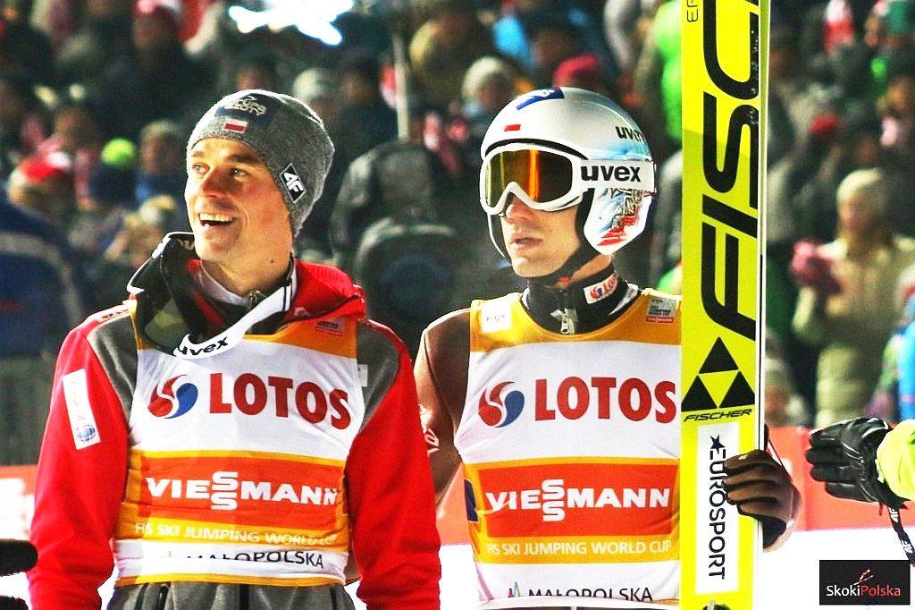 Piotr Żyła i Kamil Stoch (fot. Julia Piątkowska)