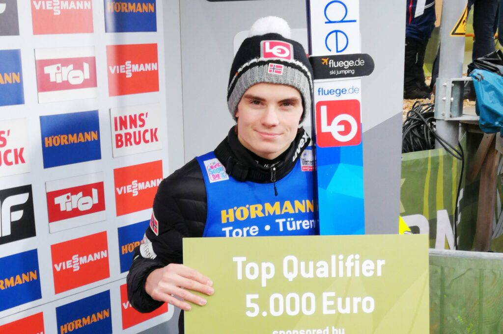 Zwycięzca kwalifikacji, Marius Lindvik (fot. Julia Piątkowska)