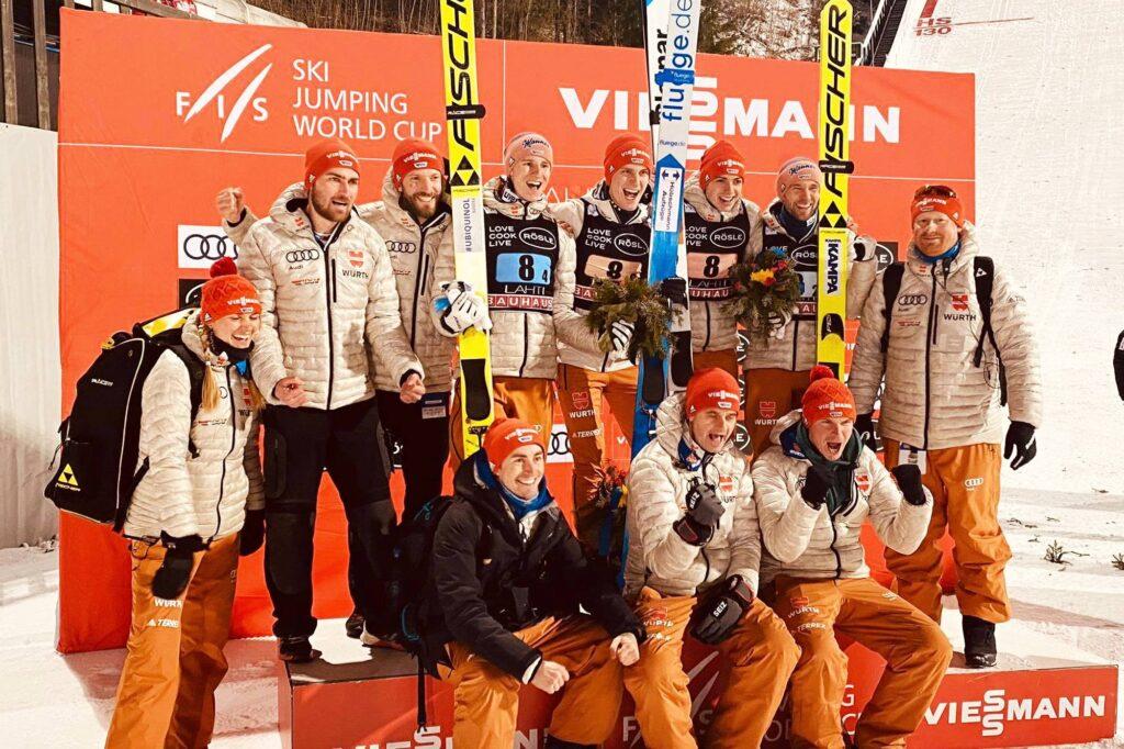 Niemiecka drużyna w Lahti (fot. Anna Trybuś)