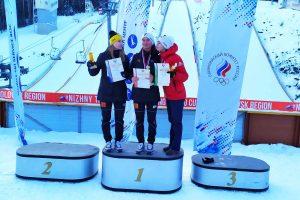 Podium konkursu (od lewej: A.Shpyneva, L.Iakovleva, S.Tikhonova), fot. Anastasia Poryadina
