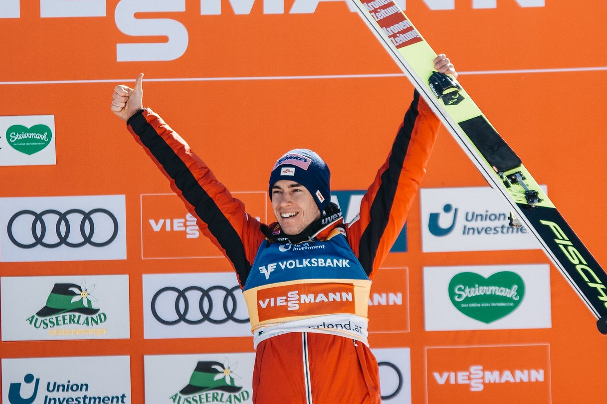 """Kraft wygrał na specjalnie przygotowanych nartach: """"Podjąłem pełne ryzyko"""""""