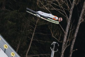 Stefan Kraft w locie na mamucie Kulm (fot. OK Kulm / Nagler)