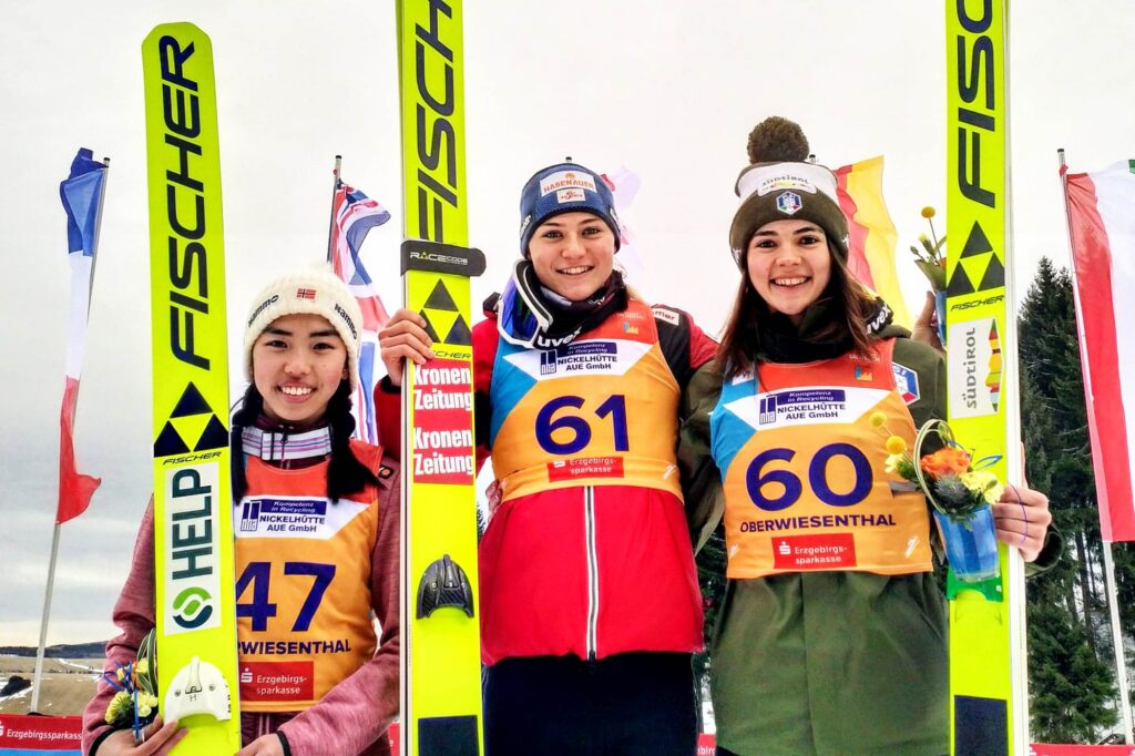 Podium konkursu (od lewej: T.M.Bjoerseth, M.Kramer, L.Malsiner), fot. Renata Nadarkiewicz