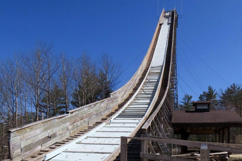 Rozbieg skoczni w Iron Mountain (fot. Kiwanis Ski Club)