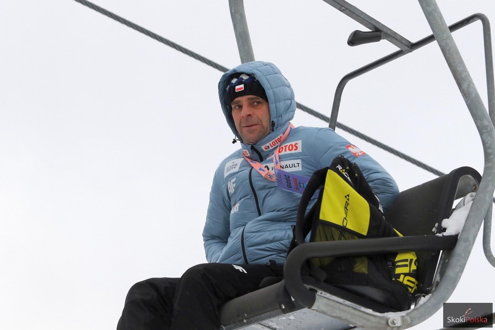 """Robert Mateja potrenuje czeskich dwuboistów. Czesi: """"To legenda skoków"""""""