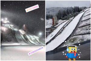 Śnieg na skoczniach w Eisenerz, Courchevel i Planicy!