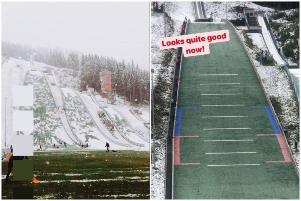 Śnieg na letnich mistrzostwach Austrii, Medwed przed Kraftem w serii treningowej