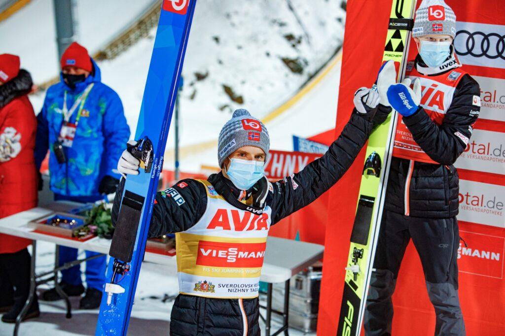 Granerud, Johansson i Lindvik komentują norweskie podium w Niżnym Tagile [WIDEO]