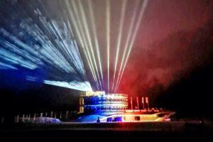 """Planica 2020 light PlanicaSIPlanicaNordic 300x200 - Mistrzostwa Świata w lotach w Planicy przy pustych trybunach! Był pomysł """"kina plenerowego"""""""