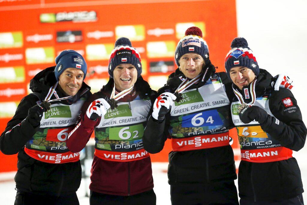 MŚwL Planica: Norwegowie przeskoczyli Niemców, Polacy z brązowymi medalami!