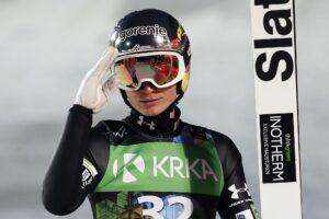 """Anže Lanišek przegrał podium przez fatalne lądowanie. """"Zrobiłem naprawdę duży błąd"""""""