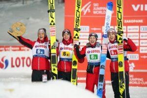 Huber Aschenwald Hoerl Hayboeck Austria Zakopane2021 fot.JuliaPiatkowska 300x200 - PŚ Zakopane: Austriacy wygrywają konkurs drużynowy, Polska druga!