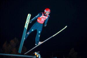 """Markus Eisenbichler lot NizhnyTagil fot.AlexeyKabelitskiy 300x200 - Horngacher po drugim miejscu Geigera: """"Z tak mocnym Stochem nie dało się więcej wywalczyć"""""""