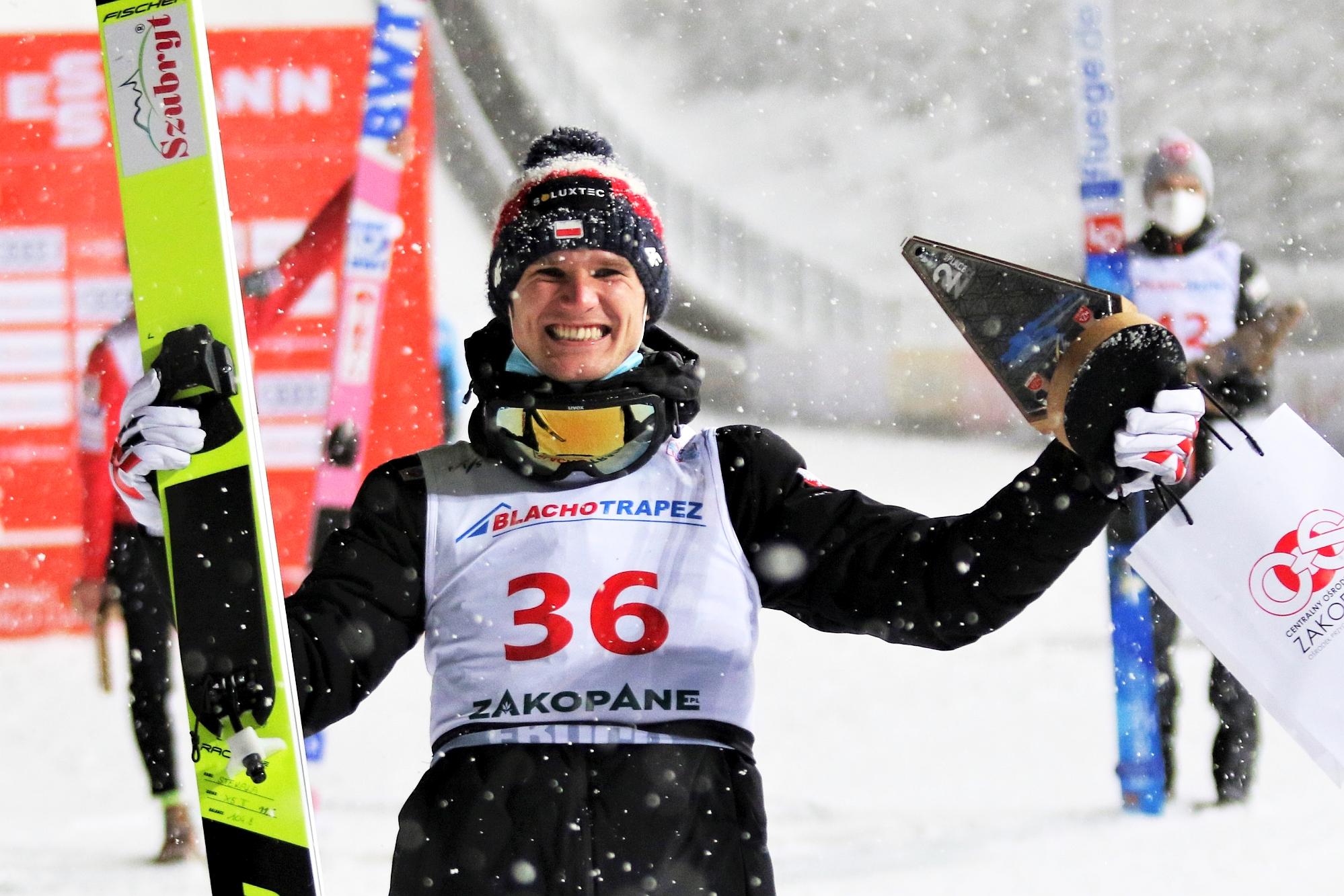 PŚ Zakopane: Kobayashi wygrywa, Stękała z premierowym podium!