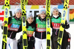 Lundby Bjoerseth Opseth Stroem Norwegia Oberstdorf2021 fot.JuliaPiatkowska 300x200 - MŚ Oberstdorf: Austriaczki ze złotem, Polki siódme w drużynowym debiucie!