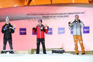 Johansson Kraft Geiger Oberstdorf2021 fotJuliaPiatkowskapodium 300x199 - MŚ Oberstdorf: Stefan Kraft mistrzem świata, Piotr Żyła tuż za podium!