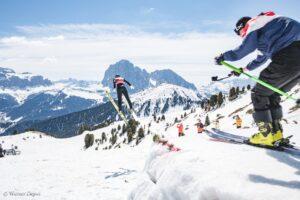ValGardena Dolomity skoczniazesniegu fotWernerDejori3 300x200 - Włosi zmierzyli się na skoczni zbudowanej tylko ze śniegu. Padło 70 metrów [WIDEO]