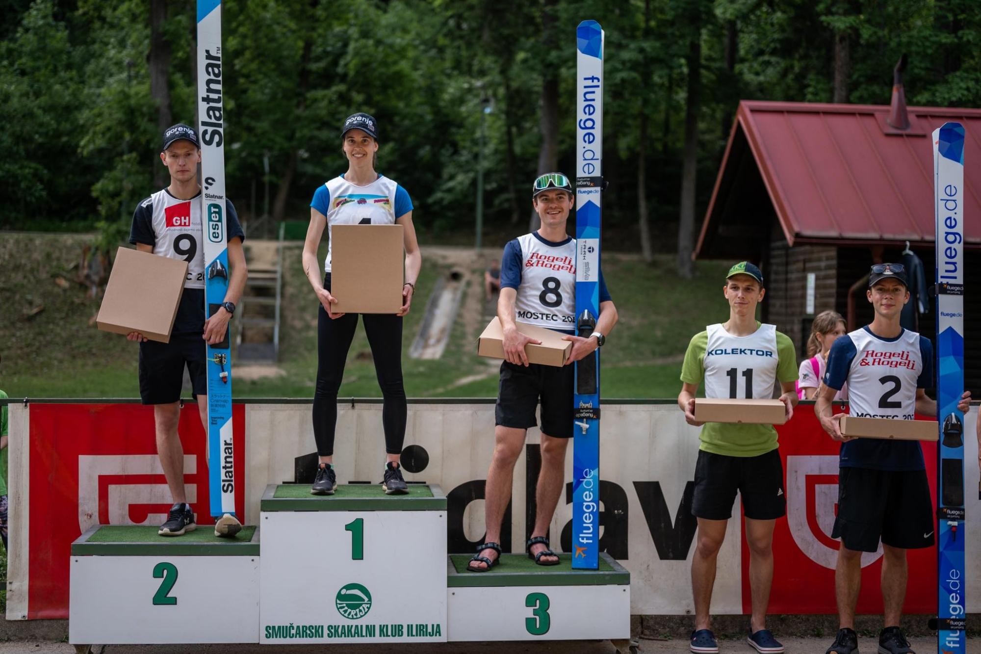Urša Bogataj wygrywa damsko-męski konkurs skoków w Lublanie
