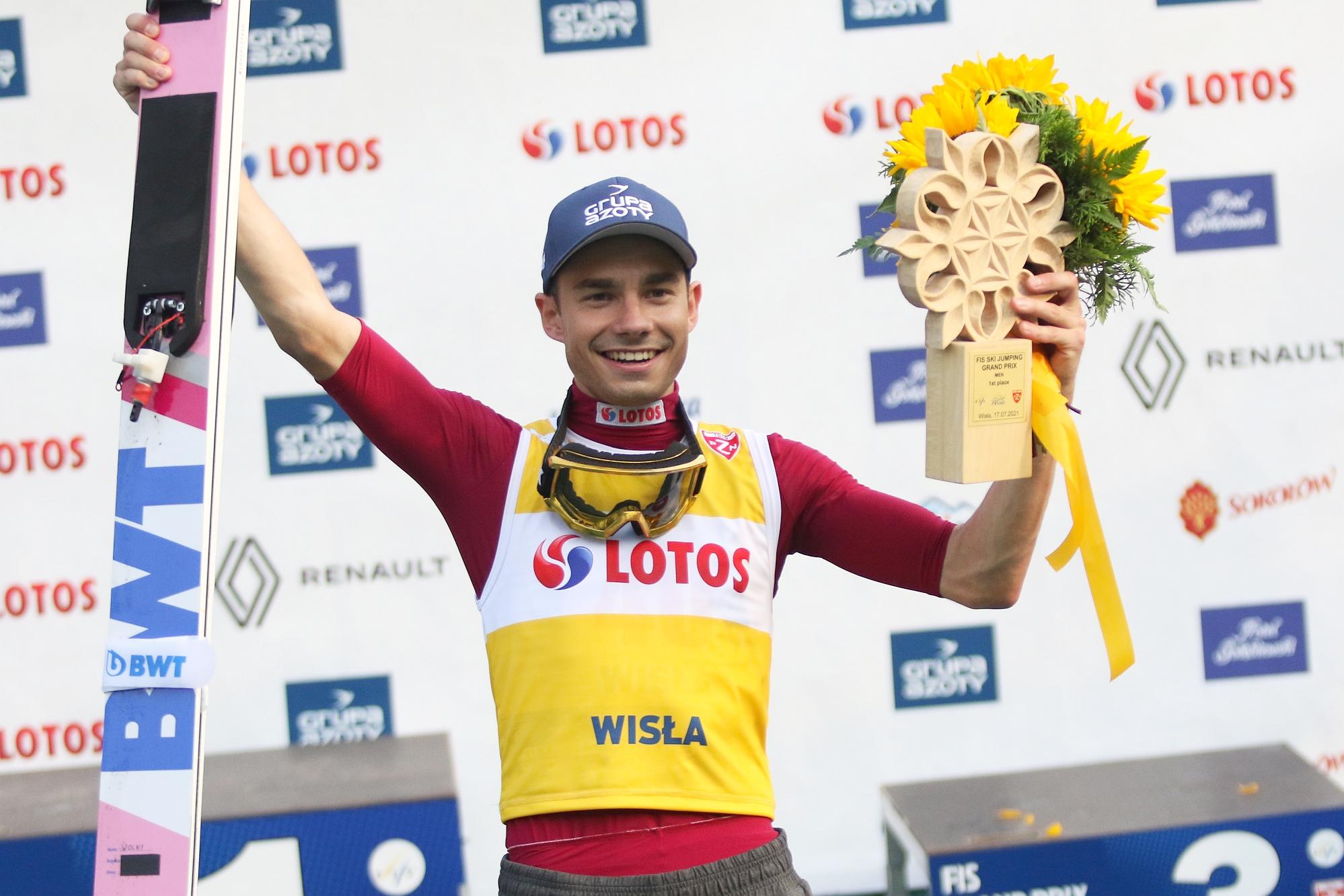 You are currently viewing LGP Wisła: Jakub Wolny wygrywa sobotni konkurs, Dawid Kubacki też na podium!