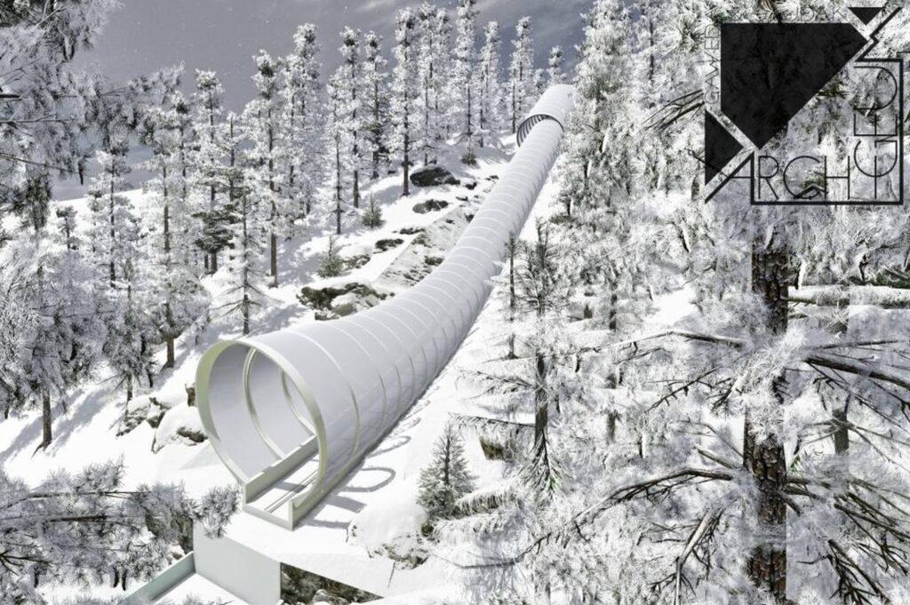 Read more about the article Powraca temat tunelu nad rozbiegiem Wielkiej Krokwi w Zakopanem. Jest nowa animacja WIDEO