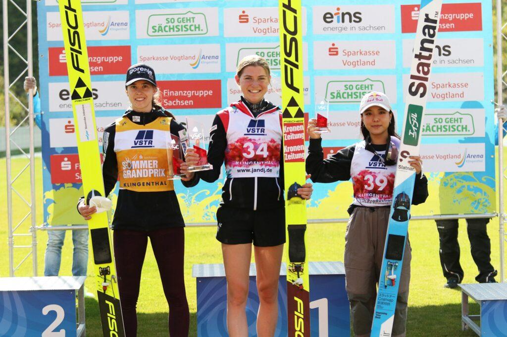 Read more about the article LGP Pań Klingenthal: Marita Kramer wygrywa z rekordem skoczni, dwie Polki z punktami
